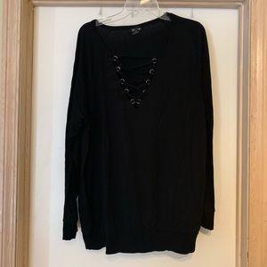 Torrid Size 3 Black Sweatshirt